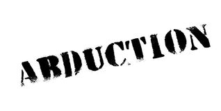 Abduction rubber stamp Stock Image