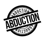 Abduction rubber stamp. Grunge design with dust scratches. Effects can be easily removed for a clean, crisp look. Color is easily changed stock illustration