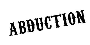 Abduction rubber stamp. Grunge design with dust scratches. Effects can be easily removed for a clean, crisp look. Color is easily changed royalty free illustration