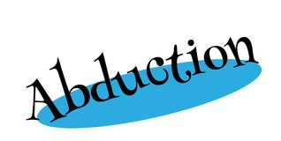 Abduction rubber stamp Stock Photography