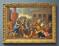 The Abduction of the Sabine Women, by Poussin Stock Photos