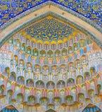 Abdul Aziz Khan Medressa en Bukhara - Buxoro, Uzbekistán Imágenes de archivo libres de regalías