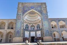 Abdul Aziz Khan Medressa i Bukhara - Buxoro, Uzbekistan Arkivbilder