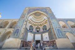 Abdul Aziz Khan Medressa i Bukhara - Buxoro, Uzbekistan Arkivbild