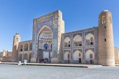 Abdul Aziz Khan Medressa i Bukhara - Buxoro, Uzbekistan Royaltyfri Fotografi