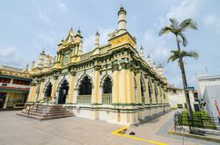 Abdul Gaffoor Mosque. Is a mosque in Singapore constructed in year 1907. The mosque located in the area known as Little India, which was an active business hub Stock Photos