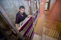 Abdul Kuddus Sawon 38 år en Benarashi Palli arbetare Arkivbild
