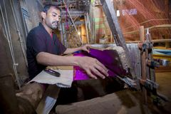 Abdul Kuddus Sawon 38 år en Benarashi Palli arbetare Royaltyfria Bilder