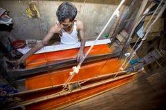 Abdul Kuddus Sawon 38 år en Benarashi Palli arbetare Royaltyfri Foto