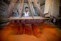 Abdul Kuddus Sawon 38 år en Benarashi Palli arbetare Arkivfoto