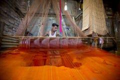 Abdul Kuddus Sawon 38 år en Benarashi Palli arbetare Royaltyfria Foton