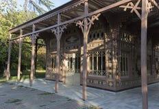 Abdulaziz Łowiecka stróżówka, frontowy prawa strona widok Istanbuł, Tur - Obrazy Stock