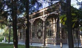Abdulaziz Łowiecka stróżówka, tylni lewa strona widok Istanbuł, Turcja - Obrazy Stock