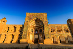 Abdulla-Khan madrasah - one of the outstanding works of Central Asian architecture, Bukhara, Uzbekistan. Royalty Free Stock Images