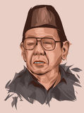 Abdurrahman Wahid. The Fourth Indonesian president royalty free illustration