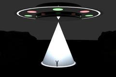 Abduzione del UFO illustrazione di stock