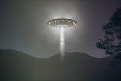 Abduzione del UFO Fotografia Stock Libera da Diritti