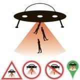 Abduzione del UFO Fotografia Stock