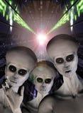 Abduzione dello straniero del UFO Fotografie Stock