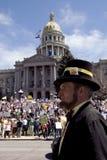 ?Abe honesto? en la reunión del partido de té, Denver Foto de archivo libre de regalías