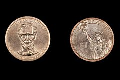 Abe Lincoln Dollar Coin Stock Images