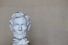 Abe Lincoln Head on Left Stock Photography