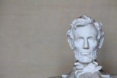 Abe Lincoln Head op Recht Stock Afbeeldingen