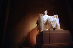 Abe's Chair. Inside the Lincoln Memorial in Washington D.C stock photos