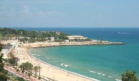 Abeach i Tarragona, Spanien Royaltyfri Bild