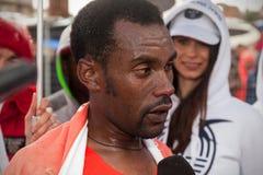 Abebe Degefa, ganador del 21o maratón de Roma Fotos de archivo libres de regalías