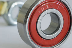 ABEC 5 Bearing. A bearing from a skateboard wheel rated at ABEC 5 (Annular Bearing Engineering Committee Royalty Free Stock Photography