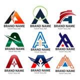 Abecadłowy logo projekta pojęć A listu logo wektor, A logo listowego projekta wektorowy ilustracyjny szablon royalty ilustracja