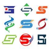 Abecadłowy logo projekta pojęć S listu logo wektor, S logo listowego projekta wektorowy ilustracyjny szablon royalty ilustracja