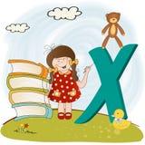 abecadła dzieci listy x ilustracji