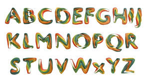 abecadła dzieci sześciany rysujący listów s zabawkarski drewniany Zdjęcia Stock