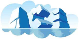 abecadła lód robić pojedynczy kamienny słowo Ilustracji