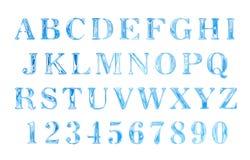abecadła tła listy ustawiający wodny biel Zdjęcia Royalty Free