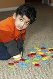 abecadła utożsamiają liczby preschooler target114_0_ Zdjęcia Royalty Free