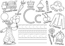 abecadło anglicy marzną lekkich fotografii obrazki bierze technologię używać był Pisze list C Karta z obrazkami i writing praktyk ilustracji