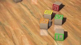Abecadło bloki na Drewnianej podłoga ilustracja wektor