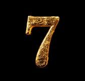 Abecadło i liczby w złocistym liściu Zdjęcia Stock