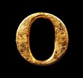 Abecadło i liczby w złocistym liściu Obrazy Royalty Free
