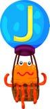 abecadło J dla jellyfish Fotografia Stock