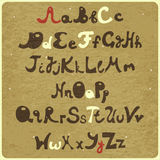 Abecadło - kapitał i lowercase Obraz Royalty Free