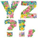 Abecadło kwiaty YZ royalty ilustracja