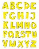 Abecadło listy wręczają patroszony wektorowego ustawiającego na białym tle ilustracja wektor