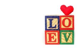 Abecadło 'miłość' Obrazy Stock