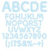Abecadło, pisze list, liczby i znaki od lodu Odosobneni przedmioty royalty ilustracja