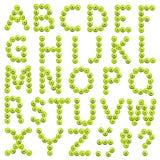 Abecadło robić zieleni jabłka zdjęcia royalty free