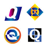 Abecadło symbole I elementy list Q, taki logo royalty ilustracja